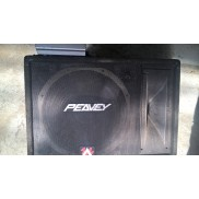 used woofer with box and amplifier