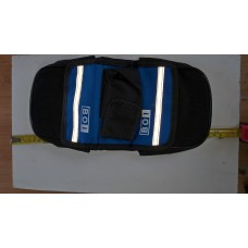 bicycle bag with phone case blue